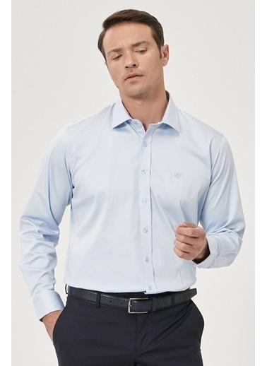 Beymen Business 4B2000000013 Beyaz Regular Fit Gömlek Saten Mavi